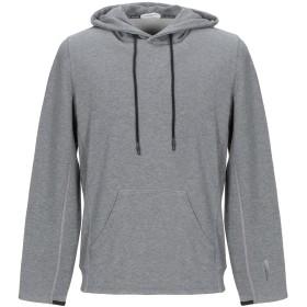 《期間限定セール開催中!》PAOLO PECORA メンズ スウェットシャツ 鉛色 S コットン 100%