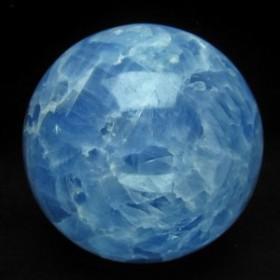 2Kg ブルーカルサイト 丸玉 スフィア 115mm [送料無料] 161-139