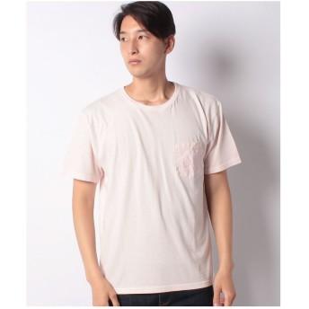 Purple & Yellow 胸ポケット付き Tシャツ(ライトピンク)【返品不可商品】
