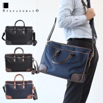 ステファノマーノ ビジネスバッグ 2way ブリーフケース 通勤バッグ ショルダー B4対応 イタリアンレザー STEFANOMANO art.700