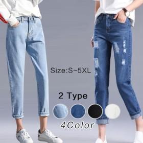 高品質 2019新しい韓国カジュアルパンツ/ルーズ/ファッショントーンジーンズ