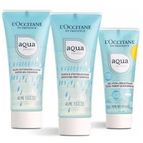 数量限定L'OCCITANE(ロクシタン) アクアレオティエ トライアル(洗顔料、化粧水、保湿クリーム)