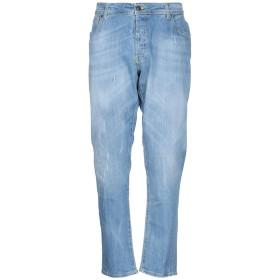 《期間限定 セール開催中》LIU JO MAN メンズ ジーンズ ブルー 56 コットン 99% / ポリウレタン 1% / 革