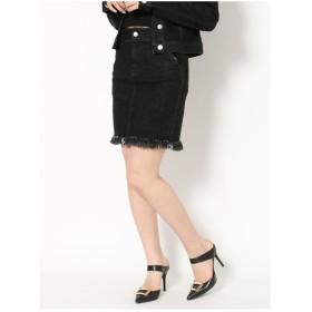 RESEXXY キルティングデニムスカート ブラック