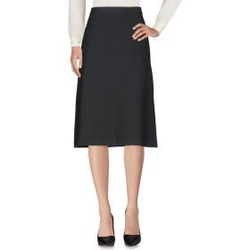 《セール開催中》SEVENTY SERGIO TEGON レディース 7分丈スカート ブラック 40 63% ポリエステル 27% レーヨン 7% コットン 3% ポリウレタン
