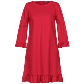 《送料無料》ELEONORA AMADEI レディース ミニワンピース&ドレス レッド 42 レーヨン 70% / ナイロン 25% / ポリウレタン 5%