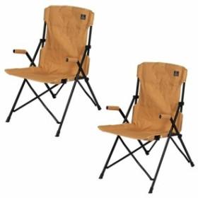 クイックキャンプ (QUICKCAMP) ハイバックチェア 2脚セット サンド QC-HFC2 アウトドア用 軽量 折りたたみ チェア 椅子 イス 集束式 コ