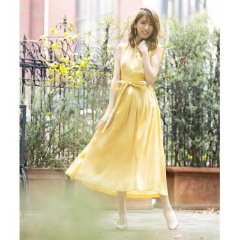 ドレス - GIRL 結婚式 ワンピース パーティードレス 大きいサイズ ロング丈 ゆったり ミモレ丈 ロング 小さいサイズ 袖なし ノースリーブ お呼ばれ 他と被らない 20代 30代 40代 50代 ドレス 二次会 ゲストドレス レディース ハイウエスト モデル美香着用