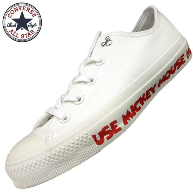 コンバース CONVERSE ALL STAR 100 MICKEY MOUSE TP OX オールスター ミッキーマウス オックス 1CL233 白 レディース