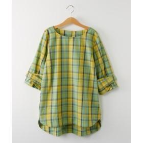 袖リボンがかわいい♪ブロード素材ブラウス (ブラウス),Blouses, Shirts