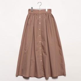 スタイルブロック STYLEBLOCK ブロードフロント釦ギャザースカート (キャメル)