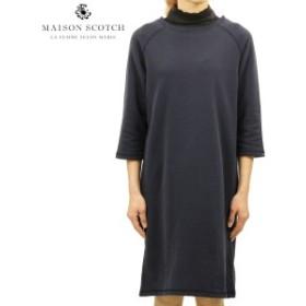 メゾンスコッチ MAISON SCOTCH 正規販売店 レディース スウェット素材 ワンピース SUPER SOFT SWEAT DRESS WOVEN COLLAR 141493 57 51303