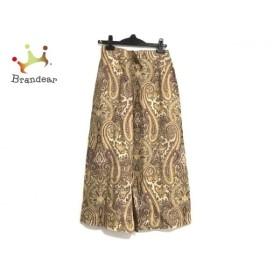 ダックス DAKS ロングスカート サイズ67-93 レディース ベージュ×ライトブラウン×マルチ 新着 20190605