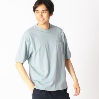 コムサイズム COMME CA ISM 〜日本の伝統色〜 ポケット付 Tシャツ (深川鼠)