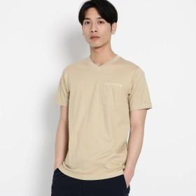 デッサン Dessin VネックポケットTシャツ (ベージュ)