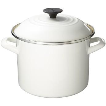 Le creuset ストックポット20cm○92100020010000 ホワイト 鍋