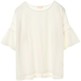 【5,000円以上お買物で送料無料】袖細レースTシャツプルオーバー