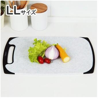 新輝合成 トンボ 石目調 ラバー付 耐熱 抗菌 まな板 LLサイズ(俎板/カッティングボード)(メール便不可)