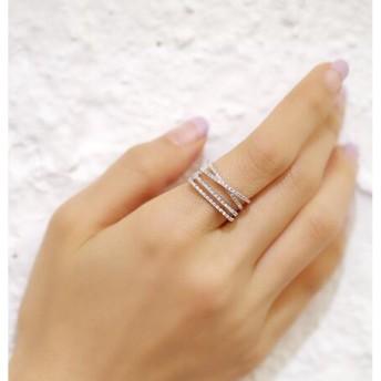 送料無料※金属アレ対応 韓国ファッション クロス(9号~20号) リング スワロフスキー リング 贈り物 可愛い 指輪 ジュエリー レディース K18 ロマンチックなデザイン