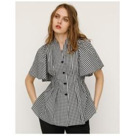 SLY フレアスリーブスキッパーシャツ マルチ1