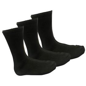 TMW 3Pトップリブクルー靴下/2001 04 黒
