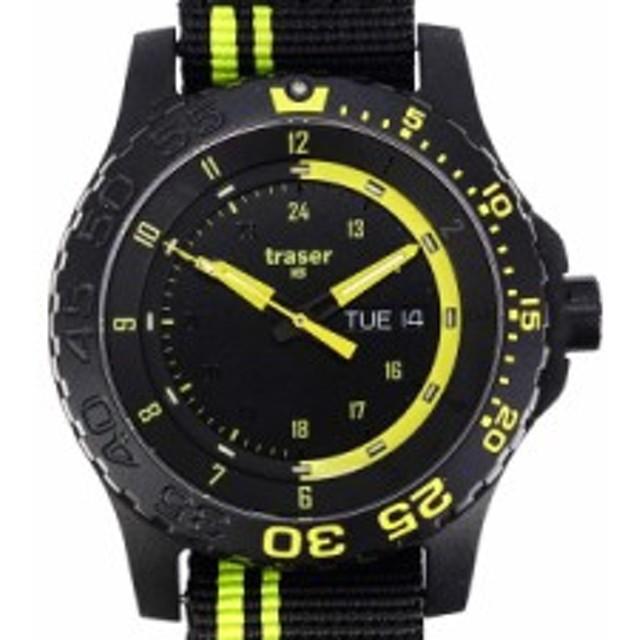 2025659b16 TRASER トレーサー メンズ腕時計 9031564 MIL-G ミリタリーウォッチ GREEN SPIRIT ブラック×グリーン
