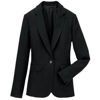 Ranan 洗えるウール調テーラードジャケット(ブラック)
