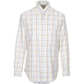 《セール開催中》PIERRE メンズ シャツ イエロー 40 コットン 100%