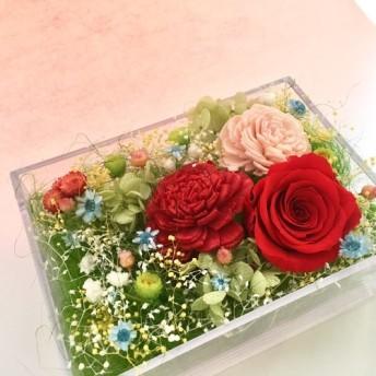 『フラワーギフト』 プリザーブドフラワー 誕生日 引越 結婚祝い クリスマス ホワイトデー ボックスアレンジ バラ