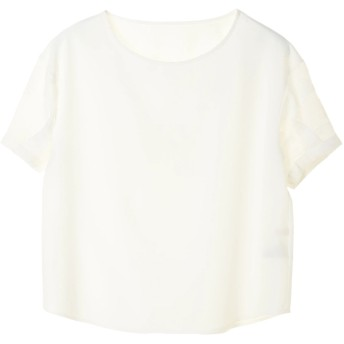 【6,000円(税込)以上のお買物で全国送料無料。】花ジャガード袖ブラウス