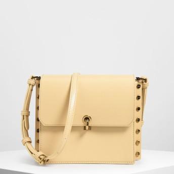 リバーシブルフラップ クロスボディバッグ / Reversible Flap Crossbody Bag (Yellow)