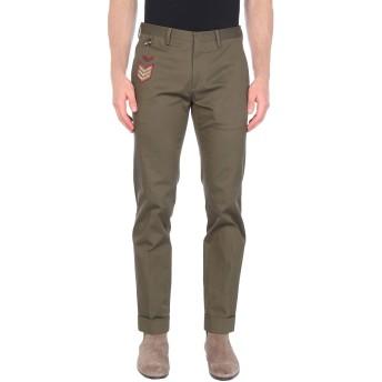 《9/20まで! 限定セール開催中》PT01 GHOST PROJECT メンズ パンツ ミリタリーグリーン 46 コットン 98% / ポリウレタン 2%