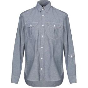 《期間限定 セール開催中》MONITALY メンズ デニムシャツ ブルー M コットン 100%