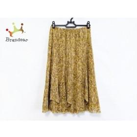 クリスチャンオジャール スカート サイズ64-93 レディース 美品 イエロー×ブラウン×マルチ  値下げ 20190908