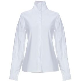 《期間限定 セール開催中》ACTUALEE レディース シャツ ホワイト 40 コットン 79% / ナイロン 18% / ポリウレタン 3%