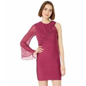 ベベ レディース ワンピース トップス Lacing One Sleeve Bandage Dress Rhubarb