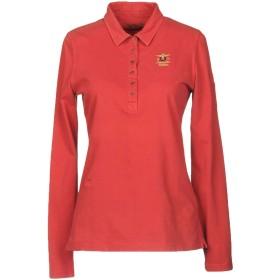 《期間限定 セール開催中》AERONAUTICA MILITARE レディース ポロシャツ コーラル XL コットン 95% / ポリウレタン 5%
