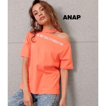 【セール開催中】ANAP(アナップ)チョーカーネックプリントTシャツ