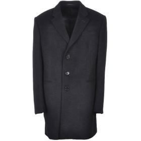 《期間限定セール開催中!》ARMANI COLLEZIONI メンズ コート ブラック 46 バージンウール 95% / カシミヤ 5%