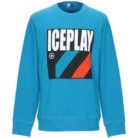 《9/20まで! 限定セール開催中》ICE PLAY メンズ スウェットシャツ ターコイズブルー S コットン 100%
