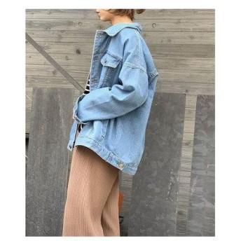 チュクラ chuclla オーバーサイズ デニムジャケット (ブルー)