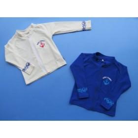 子供用ラッシュガード  UVカット 男の子 女の子 紫外線対策 白 ブルー 海 プール Kids Foret(キッズフォーレ) UV加工ラッシュガード