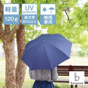 折りたたみ傘 晴雨兼用 PUヒートカット(フリル/ネイビー) 日傘 レディース UVカット 梅雨