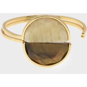 セミプレシャス ストーンカフブレスレット / Semi-Precious Stone Cuff Bracelet (Yellow)