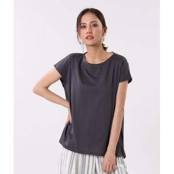 【PLST】シルケットコットンフレンチスリーブTシャツ