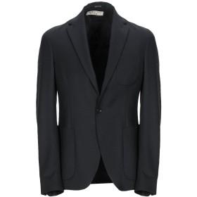 《期間限定セール開催中!》MANUEL RITZ メンズ テーラードジャケット ブラック 48 ウール 100%