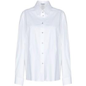 《セール開催中》INSIEME レディース シャツ ホワイト 42 コットン 97% / ポリウレタン 3%