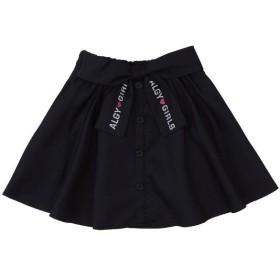 【33%OFF】 アルジー ロゴクロスりぼんスカート レディース ブラック XXS 【ALGY】 【セール開催中】