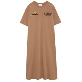 ミラオーウェン オーバーサイズプリントTシャツワンピース レディース BEG 0 【Mila Owen】