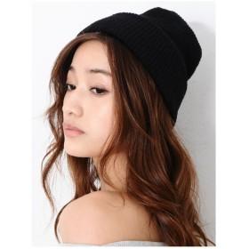 EGOIST プレーンニット帽 ブラック
